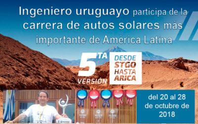 Ingeniero uruguayo participa de la carrera de autos solares más importante de América Latina
